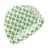 Badekappe, Badehut, St. Patrick's Day Lucky Shamrock Swim Caps for Kids Boys and Girls Baby Bathing Caps for Long and Short Hair