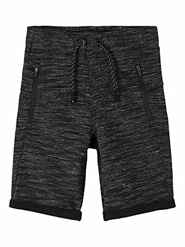 NAME IT Jungen NKMSCOTTT SWE Long UNB NOOS Shorts, Black, 164