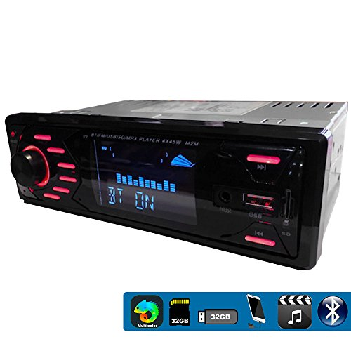 VAK Autoestereo 3558 Bluetooth Multimedia USB Y SD Mp3 Wma Aux Mp4