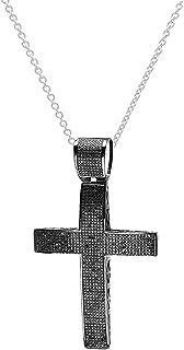 Dazzlingrock Collection 3.85 Carat (ctw) Black Rhodium Plated Round Diamond Ladies Cross Pendant, Sterling Silver