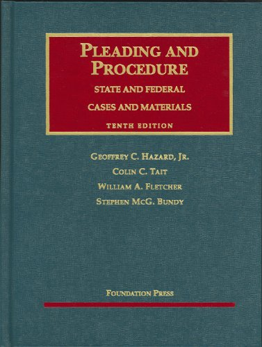 Cases and Materials on Pleading and Procedure: State and...