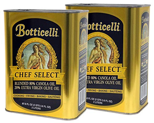 Botticelli Chef Select Cooking Oil - Organic Canola Oil for Cooking, Baking & Frying Blended With Organic...