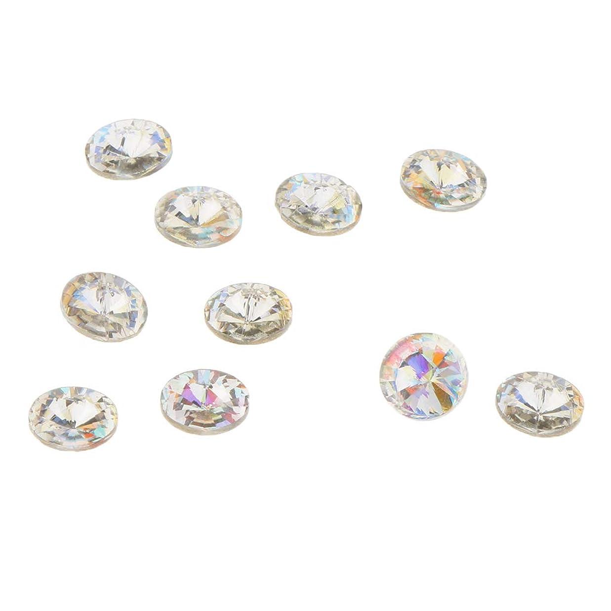 咳自信があるどこかB Blesiya 10個 ネイルアート 3D ネイルチャーム ダイヤモンドチップ プロ ネイルサロン 5タイプ選べ - C