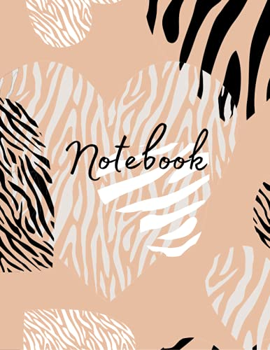 Notebook: Zebra College Ruled Composition Notebook: 100 Pages | 8.5 x 11