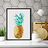 adgkitb canvas Kaffee Ananas ölgemälde leinwand drucken Bild Kunst, Tropische früchte Cafe bar...