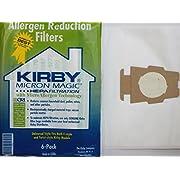 Kirby 6 Cloth Sentria Hepa Micron Magic Ultimate G 1 Free Belt Vacuum Bags, White