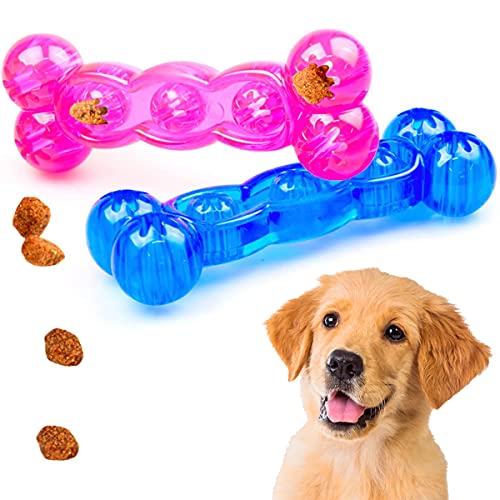 Hunde Wurf und Kauknochen - schwimmfähig | Kauspielzeug | Apportier-Spielzeug | Zahnpflegespielzeug und Wurfspielzeug - Alles in einem einzigen tollen Hundespielzeug! (blau)