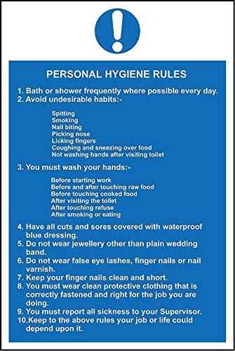 Persoonlijke hygiëne regels Hygiëne horeca veiligheidsborden - 3mm Aluminium bord 400mm x 300mm