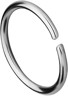 Forbidden Body Jewelry 18G -20G Surgical Steel Seamless Nose Ring or Cartilage Hoop with Comfort Round Ends (Sold Individually)