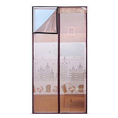 Muggengordijn met klittenbandsluiting, magnetische zachte garen, zomer scherm, deur, slaapkamer, vliegen ventilatie, gratis punch partitie voor keuken en balkon 100 * 210cm E