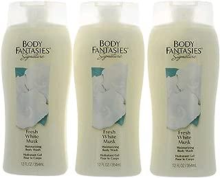 Fresh White Musk by Bódy Fantasíes, 3 Pack of 12 oz Bódy Wásh for Women