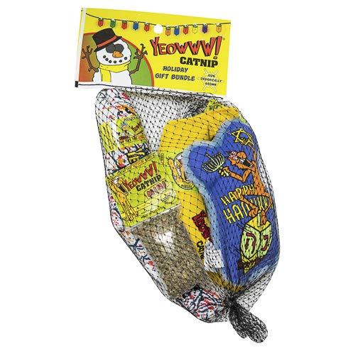 Yeowww Dreidel Krinkle Holiday Gift Bundle Catnip Toy