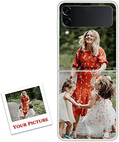 Custom Samsung Galaxy Z Flip 3 5G Case Make Your Own Picture Phone Case Gifts, Z Fold 3 Z Fold 2 Z Flip 5G PC Shell Anti-Drop,Gifts for Women Mom(Compatible with All Galaxy Z Models)