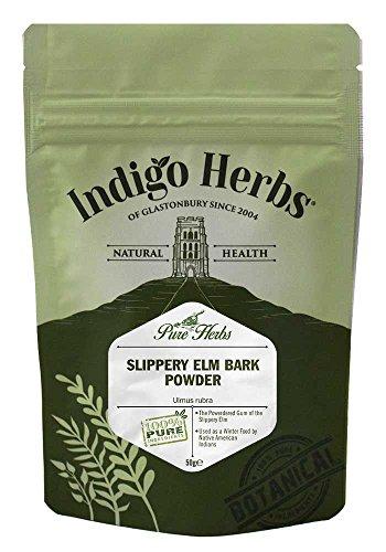 Indigo Herbs Ulmenrinde Pulver 50g | Slippery Elm Bark Powder | Ulmus rubra | Vegan | Rein & GMO Frei