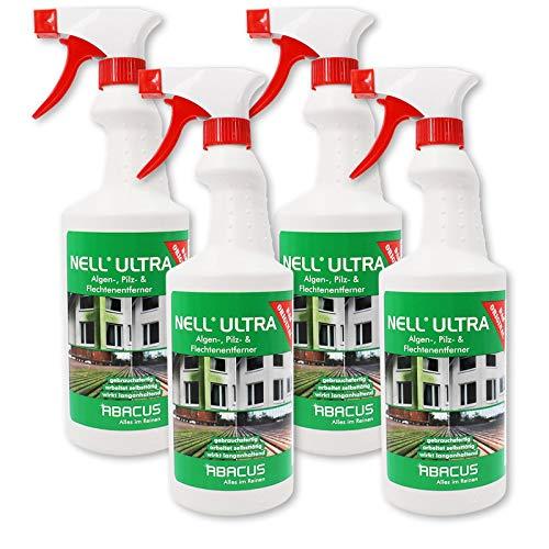 ABACUS Nell Ultra 7368 Lot de 4 flacons de 750 ml de nettoyant pour dépôts verts et champignons