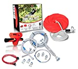 Slackers 90 ft Eagle Series Zipline - Kids Zip line Kit with Safety Zipspring Brake System - Great Zipline Kit for Kids and Teens - Recommended Ages 8+