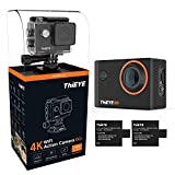 ThiEYE i60+ Action Camera 4k WiFi Ultra HD 12MP WiFi Action Kamera 60 Meter Wasserdicht 170°...