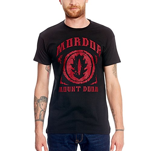 Herr der Ringe Elbenwald T-Shirt Mordor – Mount Doom Frontprint blau - S