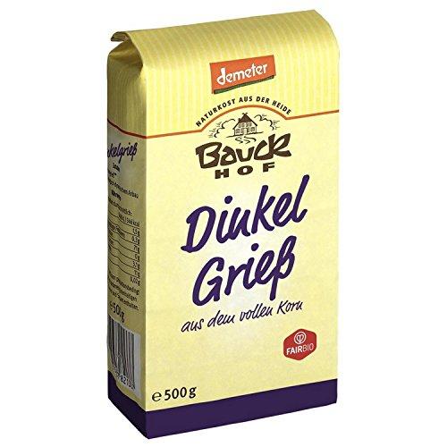 Bauck Bio Dinkel Vollgries, 500 g