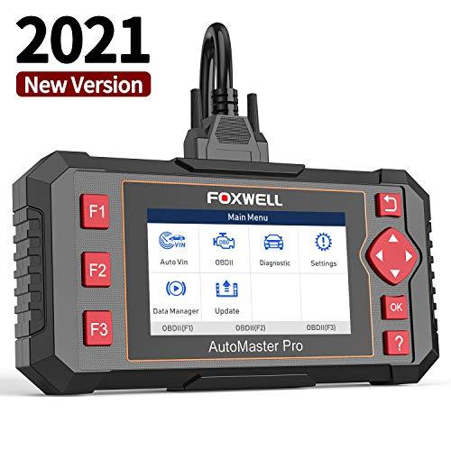 FOXWELL Car Scanner NT604 Elite OBD2 Scanner ABS SRS Transmission, Check Engine Code Reader,[2021 New Version] SRS Airbag Scanner,Car Diagnostic Scanner for All Cars
