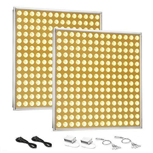 LED Grow Light for Indoor Plants,YGROW Growing Lamp Light Bulbs with Exclusive Full Spectrum for Greenhouse Hydroponic Plants from Seeding to Harvest (100W2)