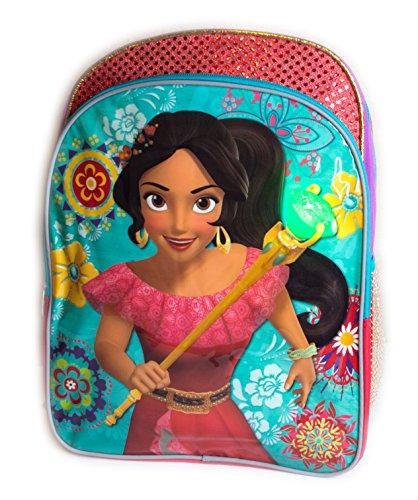 Colorful Princess Elena of Avalor School Bag Backpack, Girls School Bagpack (Light Up Elena)