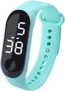 Perfk LED Touch Screen Gel Silicone Bracelet Wrist Watches Band Sports
