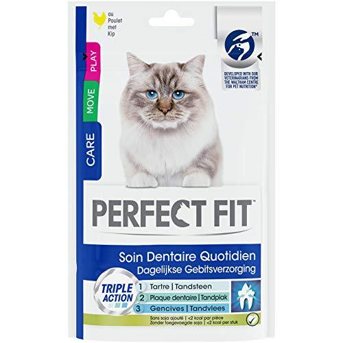 Perfect Fit Soin dentaire quotidien Friandises au Poulet pour chat 6x55g