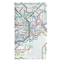 東京カートグラフィック 鉄道路線図 チケットホルダー 首都圏日本語 × 5 セット RTHSJ