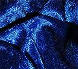 Königsblau breite Velours Craft Crushed Samtstoff Stretch