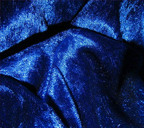 Königsblau breite Velours Craft Crushed Samtstoff Stretch -150 cm - £3,75 M lang - mit