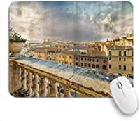 PATINISAマウスパッド 古代のバルコニーからのローマの歴史的中心部の全景 ゲーミング オフィス おしゃれ 防水 耐久性が良い 滑り止めゴム底 ゲーミングなど適用 マウス 用ノートブックコンピュータマウスマット