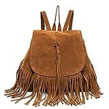 LUI SUI moda de mujer de imitación de cuero de cuero con flecos borla bolso de gran...