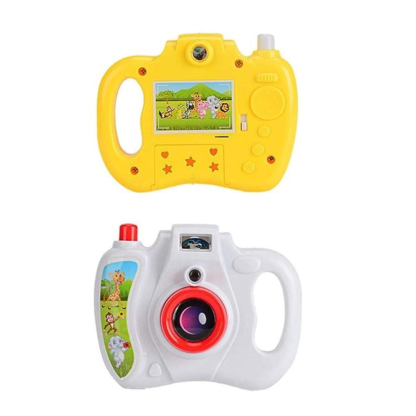 劣るイル司書カーテン子供の漫画の投影カメラ玩具八光パターンハンドプレスカメラランダムな色SNOWVIRTUOS