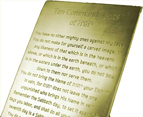 Idaho Sky 10 Commandments Engraved on Solid Brass, Ten Commandments, Mezuzah, Messianic