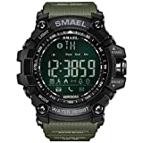 SMAELBand 50M Swim Dress Sport Watches Orologi Smart Link Bluetooth Stile Verde dell'Esercito Uomo Digital Sport,Army