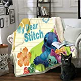 AJ WALLPAPER 3D Stitch Flowers 1281 Warm Plush Fleece Blanket Picnic Sofa Couch Quilt Bed US Sinsin (CustomSizeMessageUs)