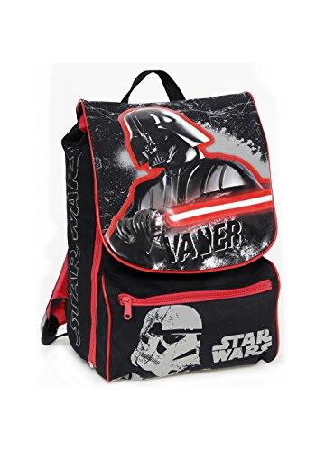 Auguri Preziosi - Zaino Estensibile Medium - Star Wars + Spada Laser - 27x38x19 - Scuola elementare viaggio tempo libero