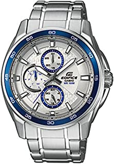 Casio Edifice Men's White Dial Stainless Steel Band Watch - EF-334D-7AVEF