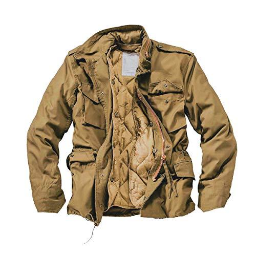 DELTA Herren M65 Army Fieldjacket (M, Beige)