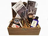 Complete Wood Shave Kit with Straight Razor Beginner Shave Kit, Shave Ready Cuttthroat Razor for Men, Cut Throat, Razor Set for Beginners, Shaving Ready Supplies