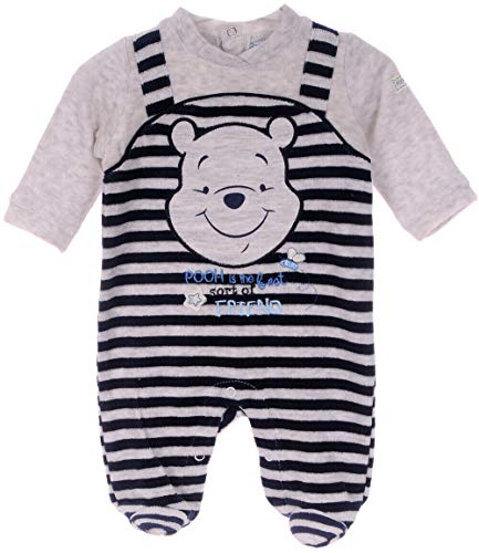 Winnie Puuh Anzug Baby Velour Nicki Strampler Overall Schlafanzug 50 56 62 68 (50)