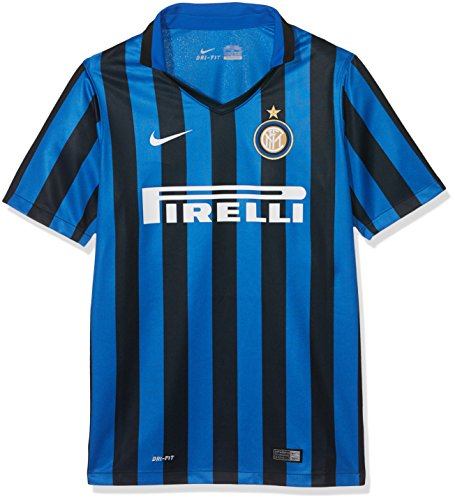 Nike Junior SS Home Reply Jersey Black/Royal Blue/Football White 15/16 Inter 12/13 Anni - Age Black/Royal Blue/Football White