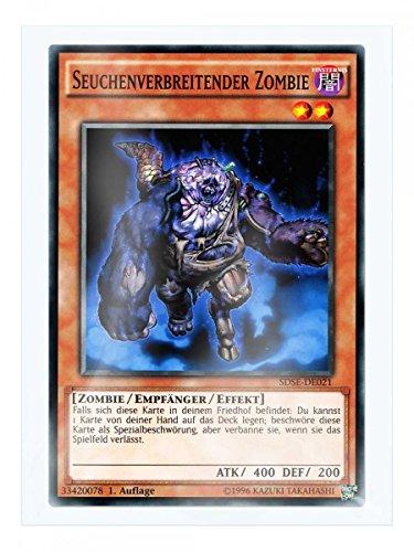 SDSE-DE021 Seuchenverbreitender Zombie 1. Auflage im Set mit original Gwindi Kartenschutzhülle