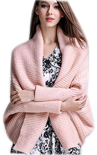 BoBo Lily Cappotto A Maglia Donna Primaverile Autunno Cardigan Eleganti Fashion Sciolto Tempo Libero Unique Stlie Puro Colore Cappotto Confortevole Manica Pipistrello Coat Outerwear Prodotto Plus