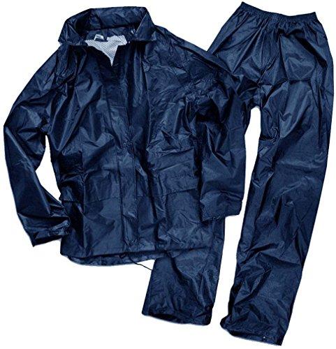Mil-Tec Herren Regenanzug, blau (Dunkel Blau), XL