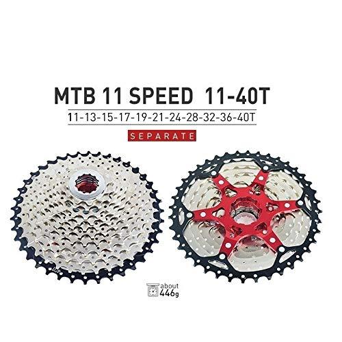 HIGHER MEN VTT Cassette 10 11 12 Vitesse 11-40T 42T 46T 50T Vélo de Montagne Vélo Roue Libre Pignons for Shimano SRAM Sunrace Pièces vélo (Color : 11S 11 40T)