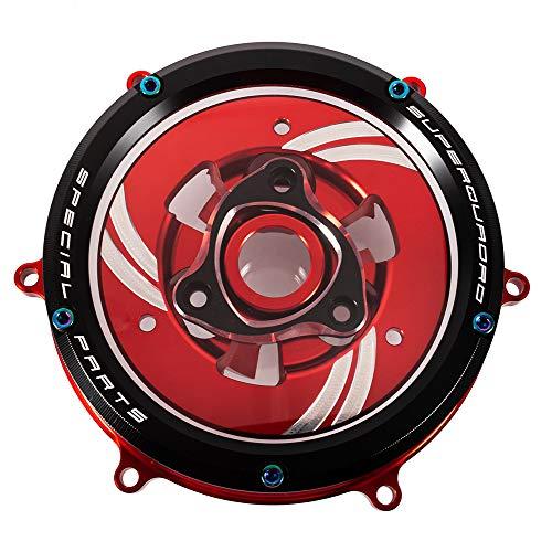 Klare Kupplungsdeckelsatz CNC Aluminium Motorradzubehör für 959/1199/1299 Panigale 2012-2018 (Schwarz)