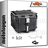 kappa maleta kfr420b k'force 42 lt + portaequipaje monokey compatible con bmw k75 750