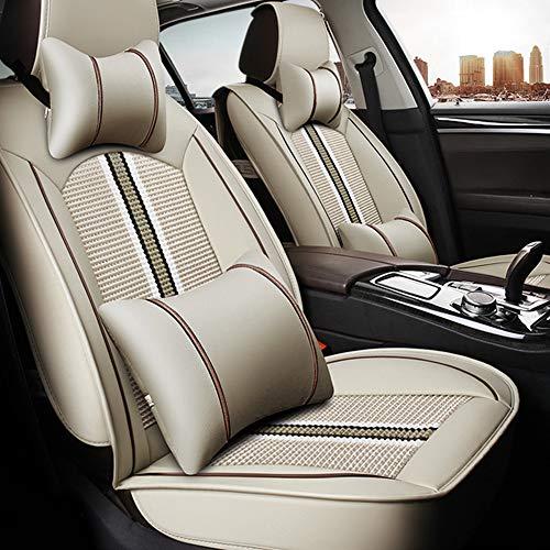 ALLYARD Auto-Sitzbezüge Für Toyo TA CH-R Vordersitze Auto-Sitzbezüge PU Leder Sitzauflage Autositz Innen Zubehör 2-Stück Beige